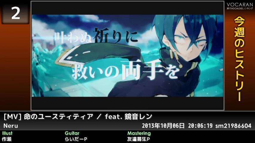 週刊VOCALOIDとUTAUランキング #367・309 [Vocaloid Weekly Ranking #367] B0RwHA5CMAAe0YF