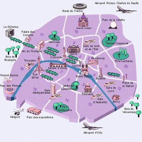 フランス語講座フランシス On Twitter パリの地図を見てみて真ん中に