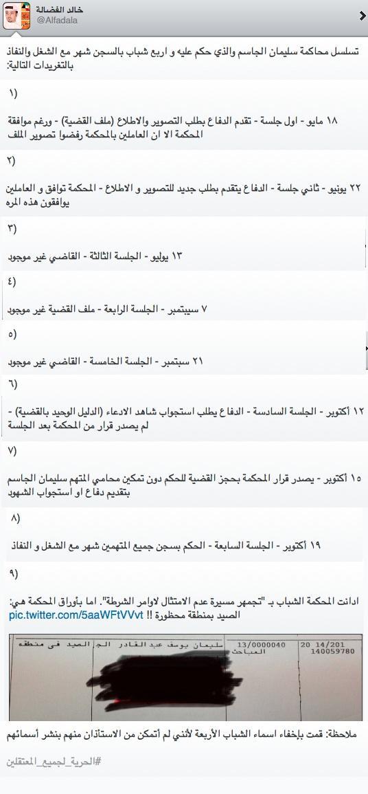 قصة سليمان الجاسم بكل اختصار: ١) الحدث http://t.co/jehJPkYQ7p  ٢) المحاكمة http://t.co/dG6heI49Wm  ٣) التنفيذ https://t.co/cLVOxjbVdT