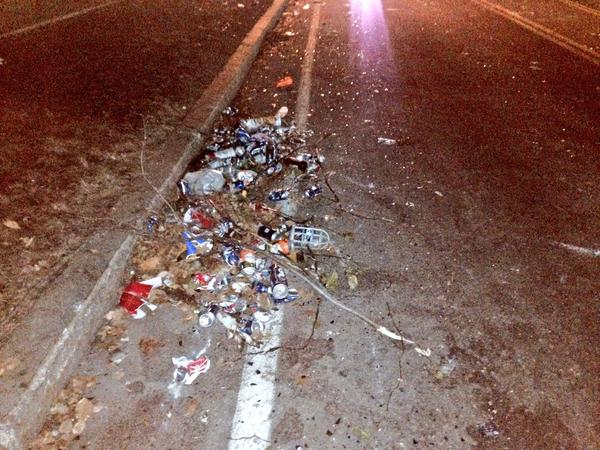 Winchester St in #Keene this morning littered with trash after parties got out of hand Saturday.  http://t.co/OGcYN3dAT8 via @sean_wmur