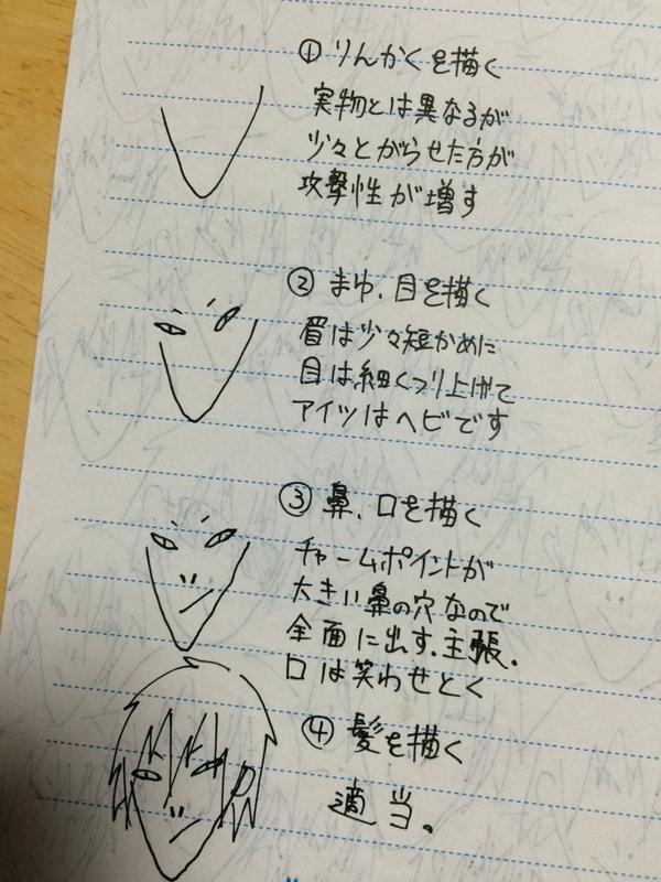 簡単!谷山紀章の描き方 pic.twitter.com/VqmcrvaFau