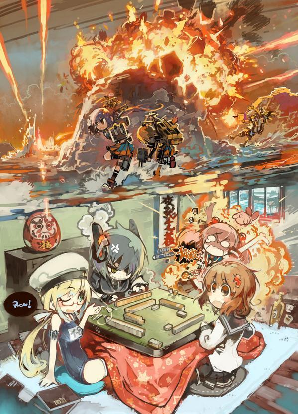 島を挟んだ戦い、卓を挟んだ戦い #艦これ pic.twitter.com/608mwyJx7h