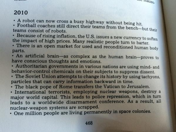 The Book of Predictions (1980) made these predictions about 2010 http://t.co/qUK20scYTg
