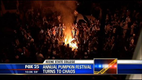 #keenestate president says school is aware students played role in #pumpkinfest chaos & they will be held accountable http://t.co/ce6FZM5eUZ