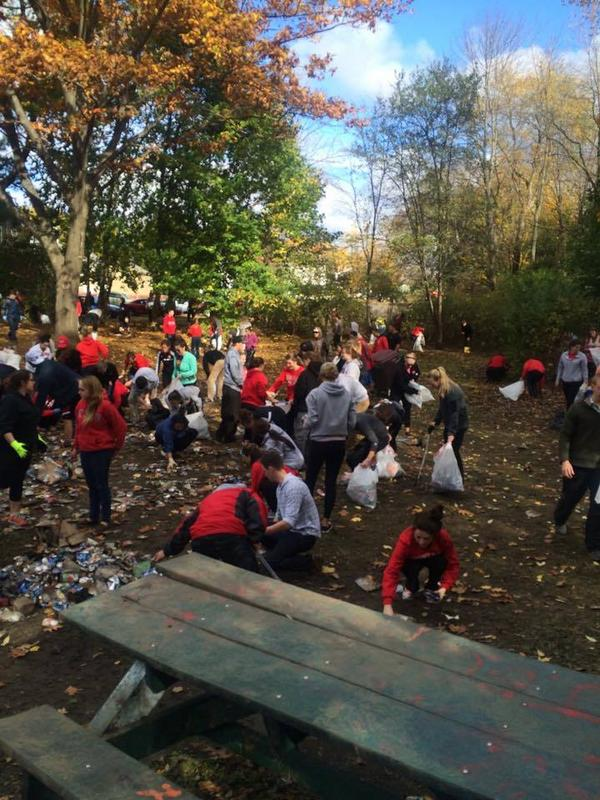 Shared with from us from the cleanup in Keene by our students. This is the KSC we know and love. Photo by Will Coates http://t.co/27JyLEtdYW