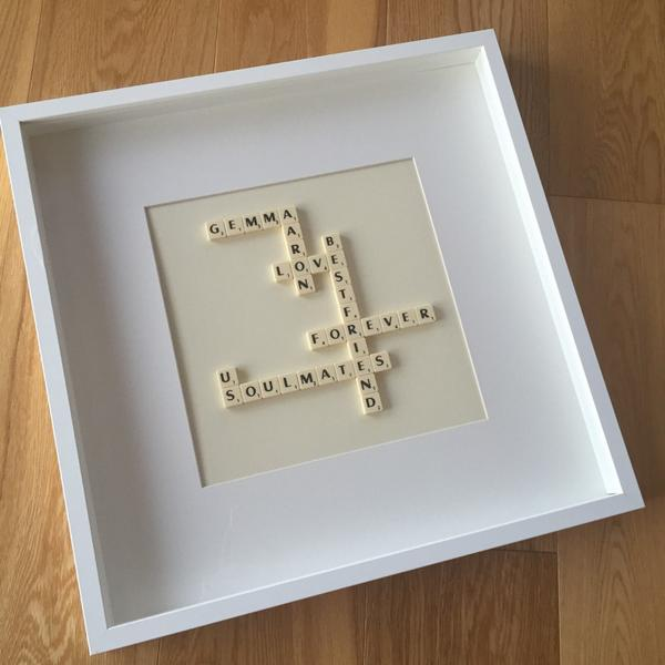 Scrabble Art on Twitter: \