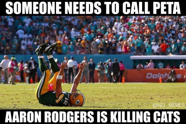 Nfl Memes On Twitter Aaron Rodgers 15 17 194 Yards 2 Tds Http T Co 6pzulxjoov