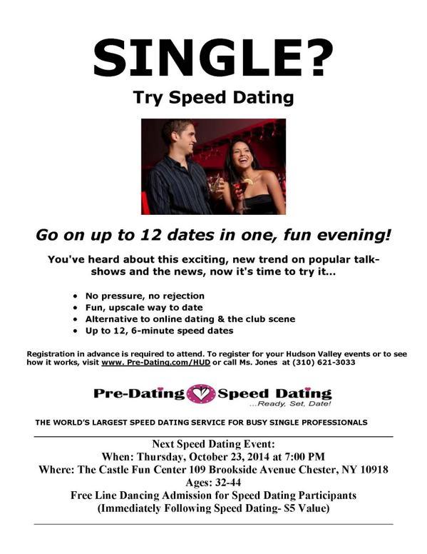 pre date speed dating welke beroemdheid moet je hook up met in 2015 quiz