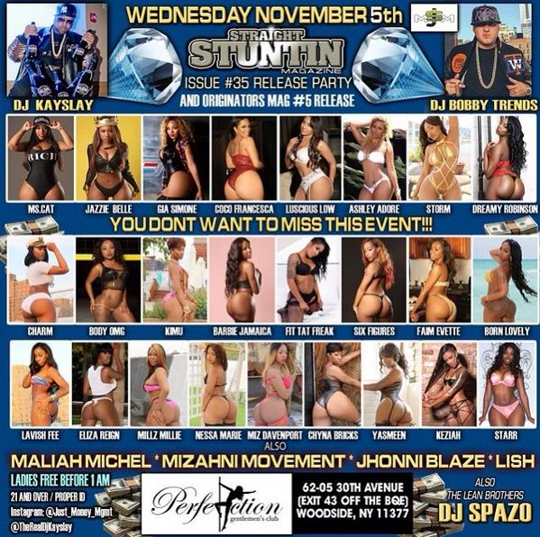 Wedn.Nov.5th find @RealDjKayslay  & the #STRAIGHTSTUNTINMODELS at #PERFECTIONS Issue#35 #ReleaseParty DONT MISS IT http://t.co/oesrxuZose