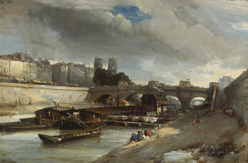 Bateau-Lavoir prés du Pont-Neuf, Paris