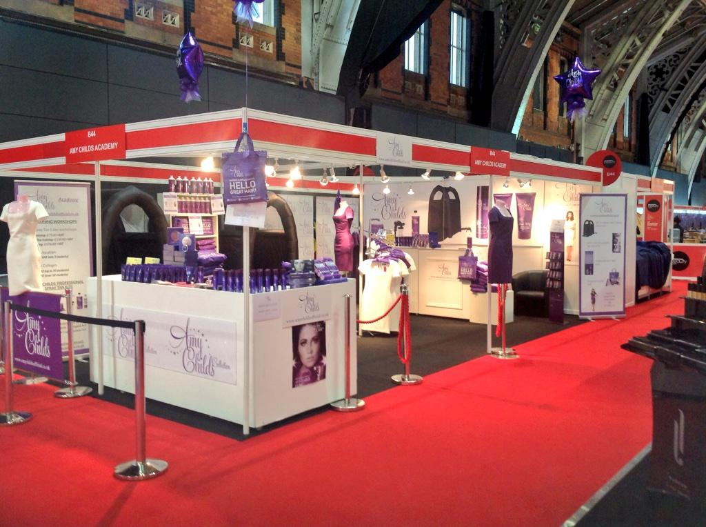 All ready to go at pure beauty Manchester for a busy day on Amy childs stand cx http://t.co/cX38AdG6U2