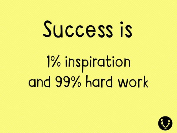 Vound On Twitter Success Is 1 Inspiration And 99 Hard Work Tco Mg0HOQR8y7