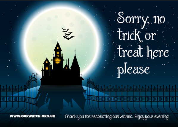 Make sure you stay safe this Halloween - download our trick or treat posters for your door! > http://t.co/dme7P4tNdF http://t.co/kz1ZlQmRCV