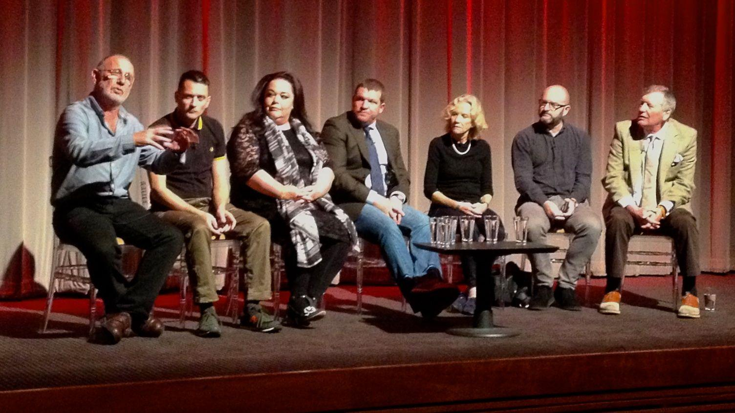 RT @ianwylie: Eyes right. @Reallisariley Hayley Mills, Jimmy McGovern & co at today's @LAProductionsUK Moving On @BAFTA Q&A http://t.co/FC4…