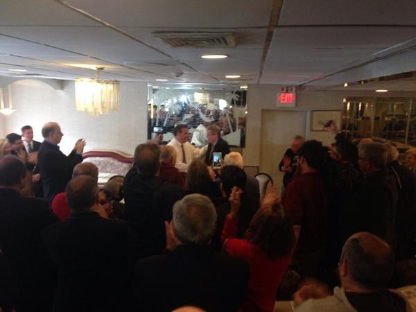 .@JeffBell2014 hitting the campaign trail early this morning with @GovChristie and a great crowd in Morristown #NJSEN http://t.co/75lkJhbPQ6