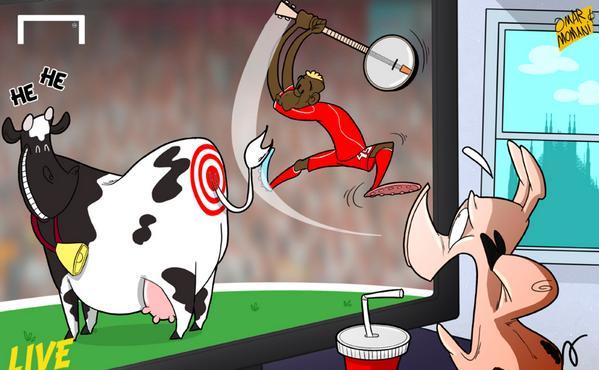 Cow cartoon show