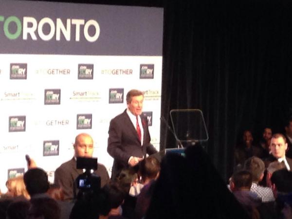.@johntoryTO says he's thinking of his dad tonight and that he would be very proud #TOpoli #voteON http://t.co/KrGIaYNl4N