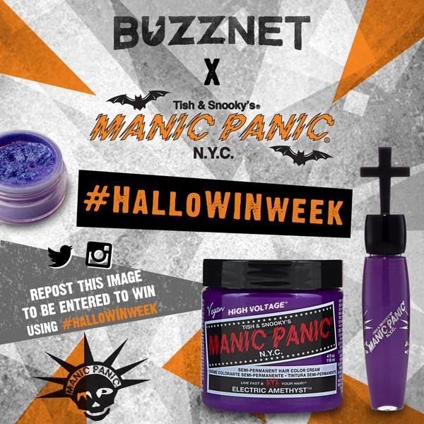 It's #HALLOWINWEEK  at @BUZZNET!! Repost image to Instagram/Twitter with hashtag #HALLOWINWEEK to be entered to WIN! http://t.co/J99jT3TUhB