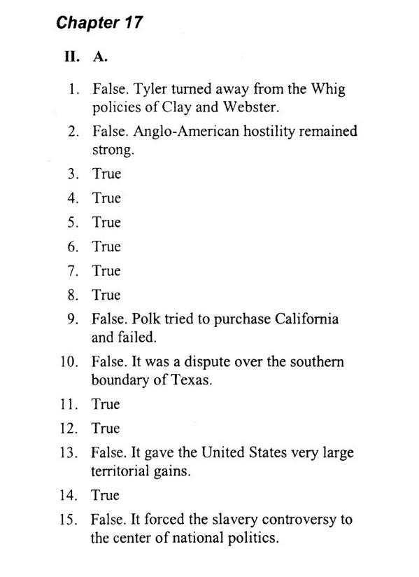 APUSH ANSWERS on Twitter Chapter 17 Manifest Destiny and Its – Apush Worksheet Answers