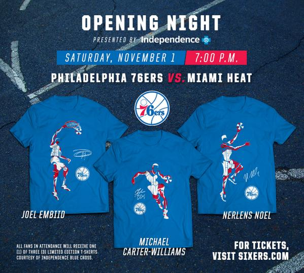 """13478e7a239 """" Sixers  Want one of these shirts  Be at Opening Night presented by  IBX.  pic.twitter.com gIUYcS0RWM"""" BUT I WANT IT NOW! (Veruca Salt voice)"""