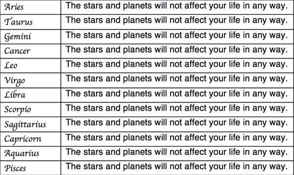 """Endelig til å stole på """"@CSpange: Dagens horoskop. Heng opp og bruk det i morgen også http://t.co/0mfIrpZamY"""""""