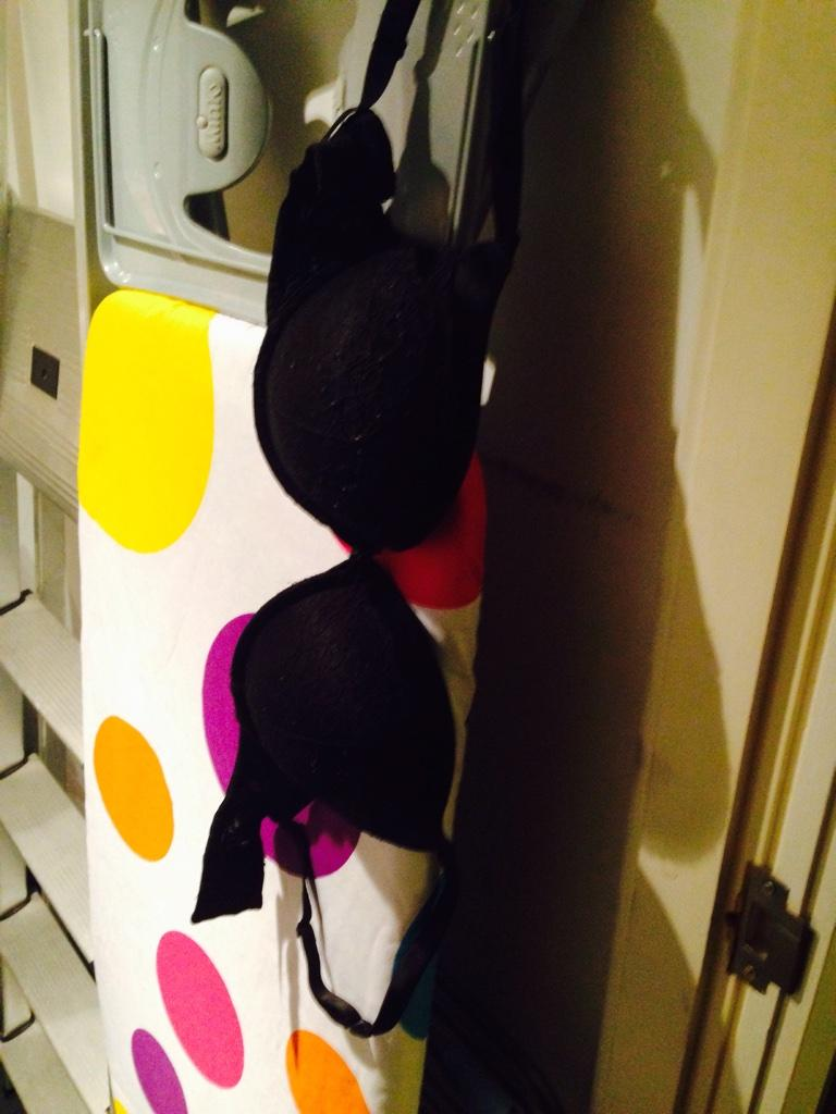 That moment when you find @KatiexMcGlynn's bra hanging in the boiler room #TheRochdaleRocket http://t.co/i82ZZnGpBp