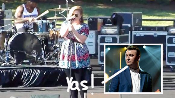 #KellyClarkson covering #SamSmith = AMAZING! Listen: http://t.co/xhsJgxGDat http://t.co/FPWVkvQyKj