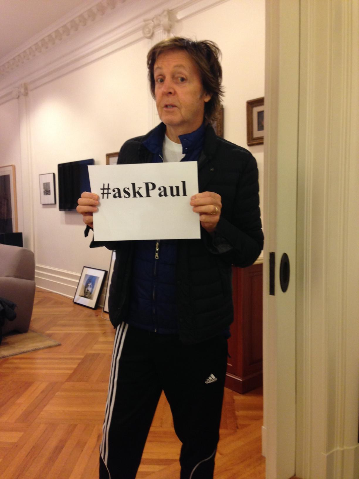 Tweet your questions now! #askPaul http://t.co/3vkXCLenWw