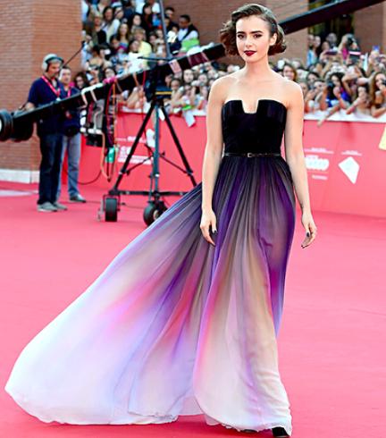 La robe de Lily Collins est une oeuvre d'art. http://t.co/mKNp8sDXD0