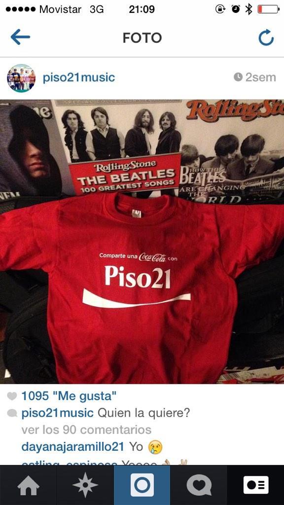 Estamos regalando esta camiseta por nuestro instagram! Participa ya @piso21music http://t.co/PtI4yhXayD