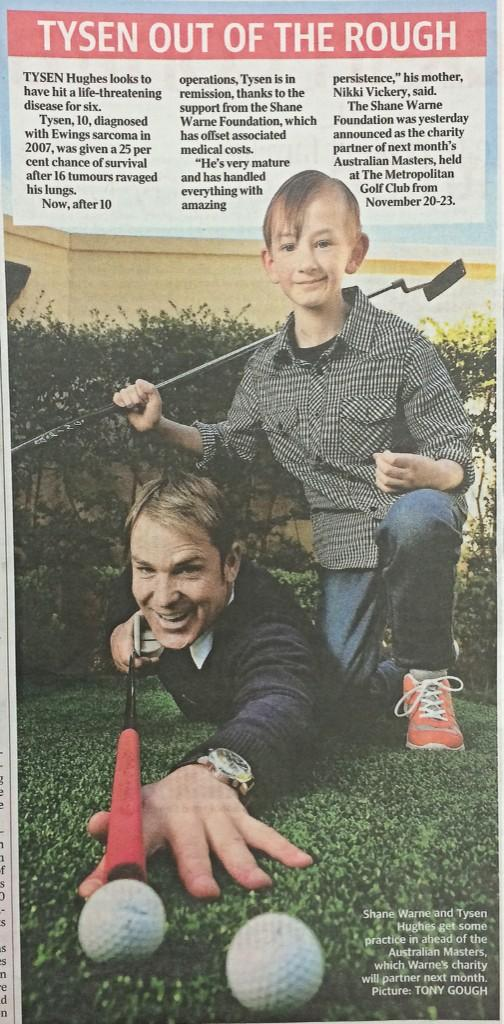 RT @TSWF_: We are so excited to be the charity of choice for the @AussieMasters 2014! See page 9 of the @theheraldsun today. http://t.co/LK…