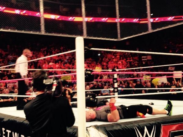 . @RandyOrton #RKO 's @HeymanHustle .... What will @BrockLesnar say? #WWE #HELLINTHECELL http://t.co/nfRJPhulUK