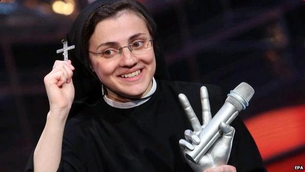 Singing Italian nun chooses 'Like a Virgin' for debut single http://t.co/7OraScxmXQ #newsfromelsewhere http://t.co/UTaOq7oRqP