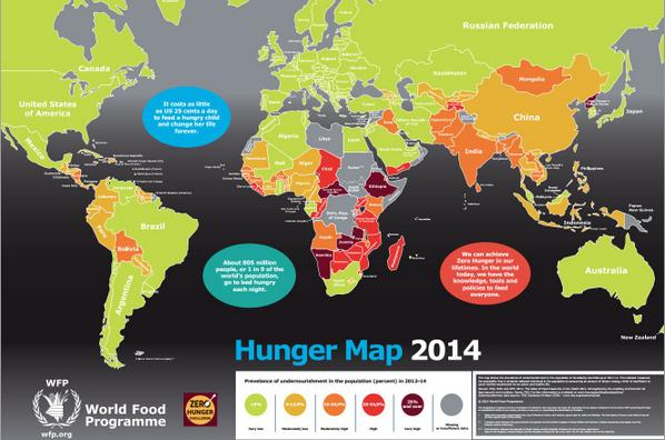 World food programme on twitter hungermap heres the latest hunger map shameful map via wfp hungermap undernourishment around the globe gumiabroncs Images
