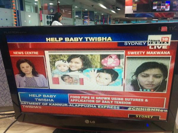 @ananyadg talks to Twisha's mother as part of @ibncj #JoyOfGiving #MissionTwisha campaign. Donate & share .@ibnlive http://t.co/RohJVrUKee