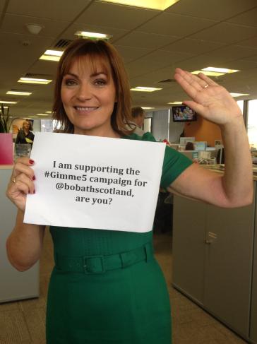 RT @BobathScotland: Pls RT @yvieburnett @carolvorders @MichelleMone help raise £ 4 kids #cerebralpalsy TEXT 'HIGH05 £5' to 70070 #Gimme5 ht…