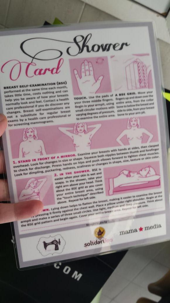 These are our 'shower cards' take them in with you , check yourself and pass it on #PinkorSwim @LoveTeaUae http://t.co/8npFTprkHi