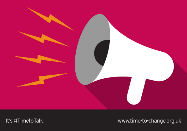 Mental illness is nothing to be ashamed of. Neither is talking about it. It's #TimetoTalk, it's @TimetoChange Retweet http://t.co/zfmiyol9xF