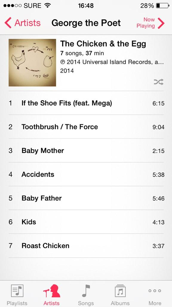 copped @GeorgeThePoet 's new EP. time to take it for a spin #highhopes #mansagenius http://t.co/TNcSq6n8BQ