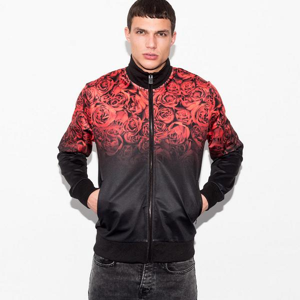 Condemned Nation Cliffe Roses Print Track Top CP3539