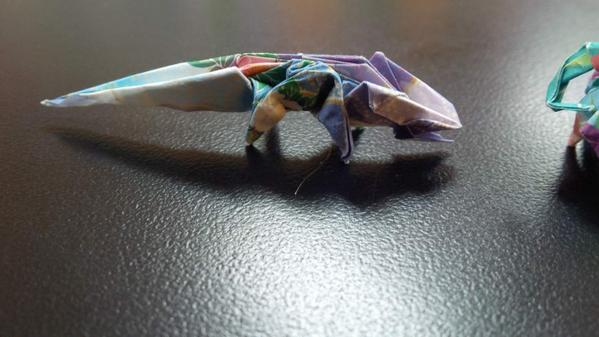 Origami lizard | Davor Vinko | Flickr | 337x599