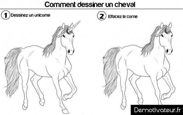 demotivateur on twitter comment dessiner un cheval demotivateur cheval licorne dessin httptcosqw63pjlgz - Comment Dessiner Une Licorne