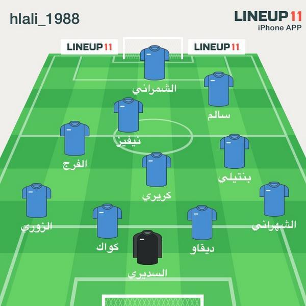 Abu Azzam On Twitter Lineup11 اتمنى ان تكون تشكيلة الهلال امام سيدني كذا Http T Co Ftxovbmjua