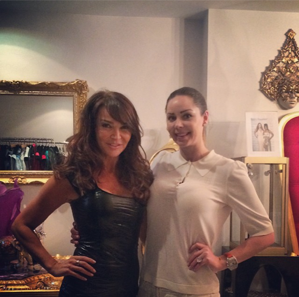 RT @NinaNaustdal: So nice seeing @lizziecundy in my showroom today. She'll look amazing in her dress at the #MOBO2014 tomorrow! http://t.co…