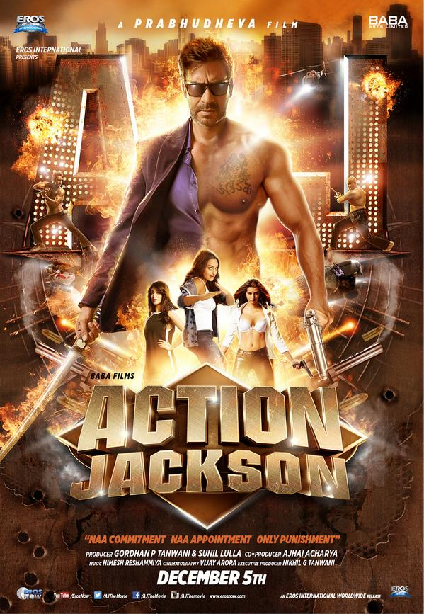 Action Jackson First Look Posters starring Ajay Devgn