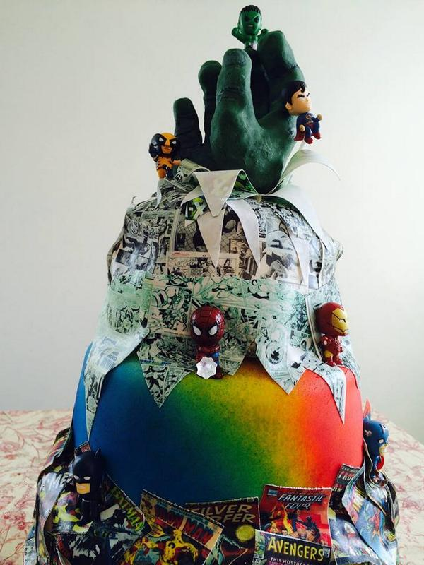 Love Baker On Twitter Marvel DC Birthday Cake Tco