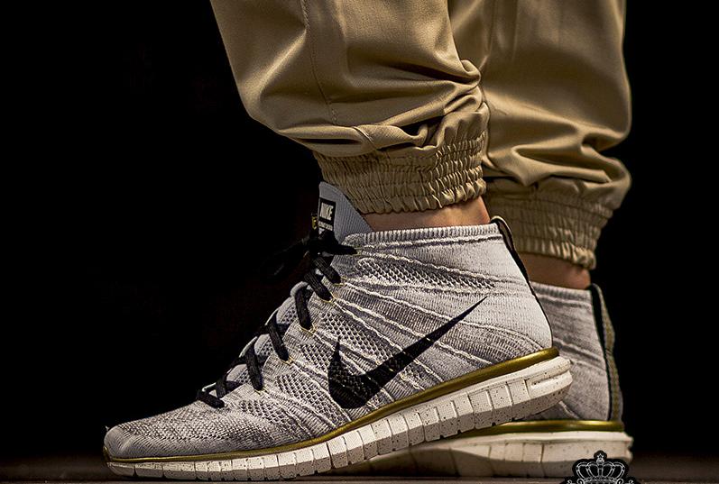 Nike Free Flyknit Chukka Gold