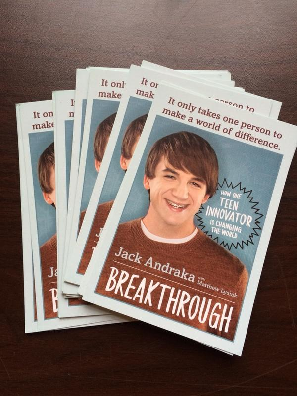 Excited to livetweet @jackandraka on #openaccess and Jack has a BOOK coming out! #oaweek14 http://t.co/t3SdWarPhG