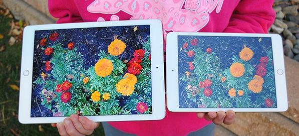 This is what the anti-reflective screen on iPad Air 2 looks like outside vs iPad mini 3. http://t.co/AlQG6S1ydH