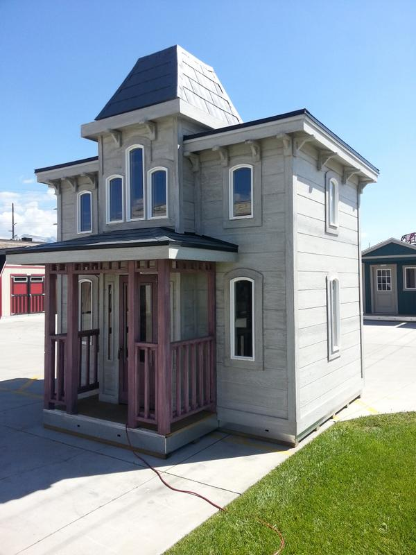 Tuff shed on twitter this custom two story 8x12 for Two story shed house